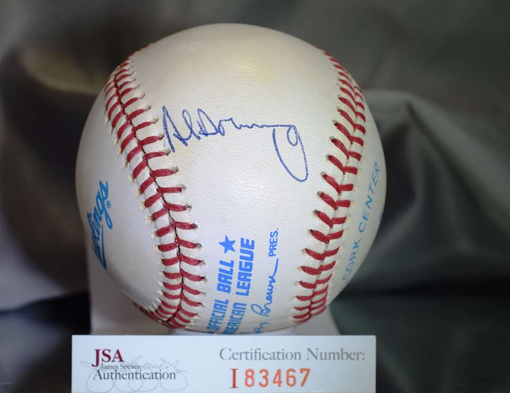 Al Downing Jsa Certed American League Autograph Baseball Authentic Signed