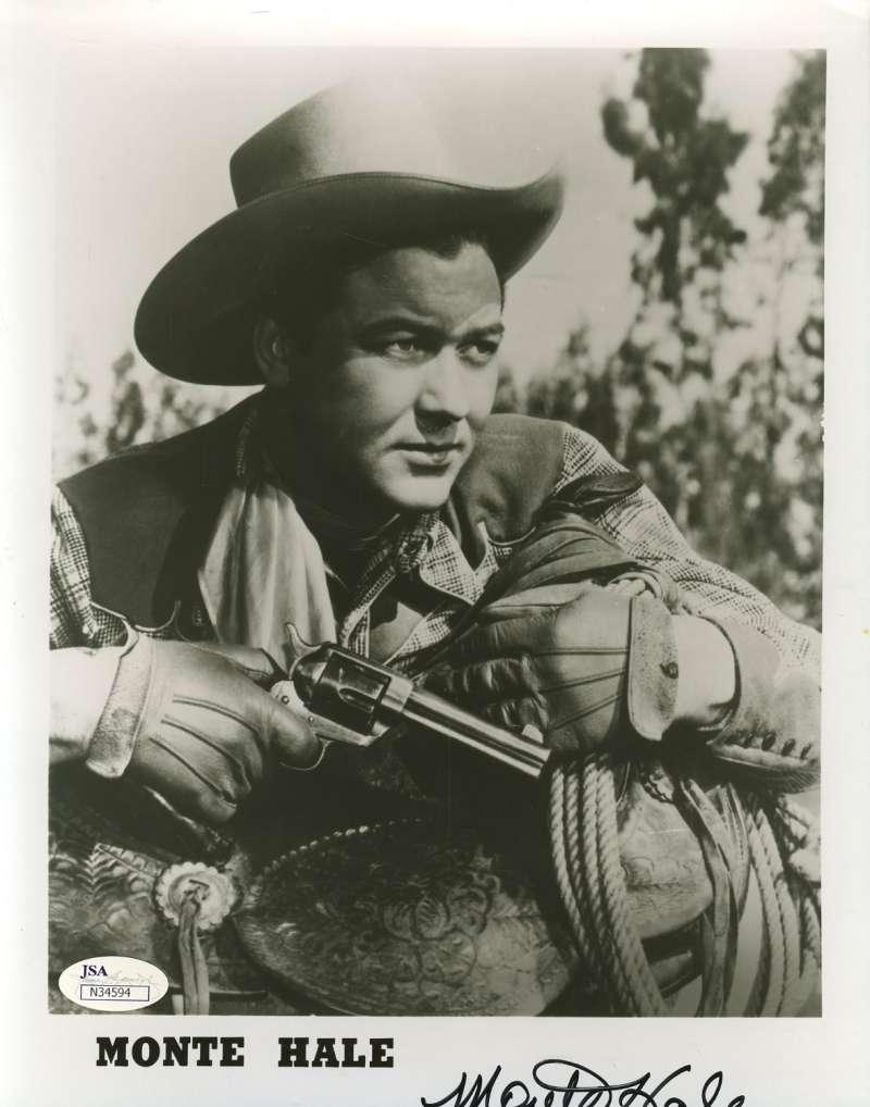 Monte Hale Cowboy Signed Jsa Certified 8x10 Photo Authenticated Autograph