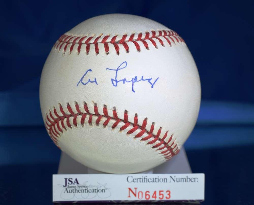 Al Lopez Jsa Certed National League Autograph Baseball Authentic Signed