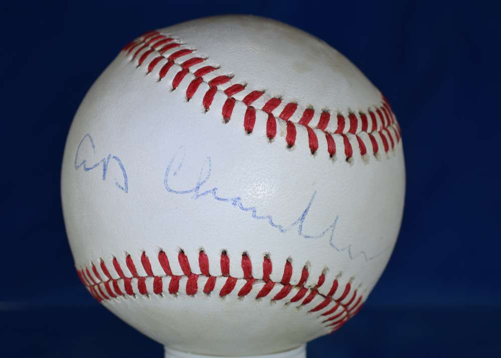 Ad Happy Chandler Psa/dna Certified National League Autograph Signed Baseball Authenticated