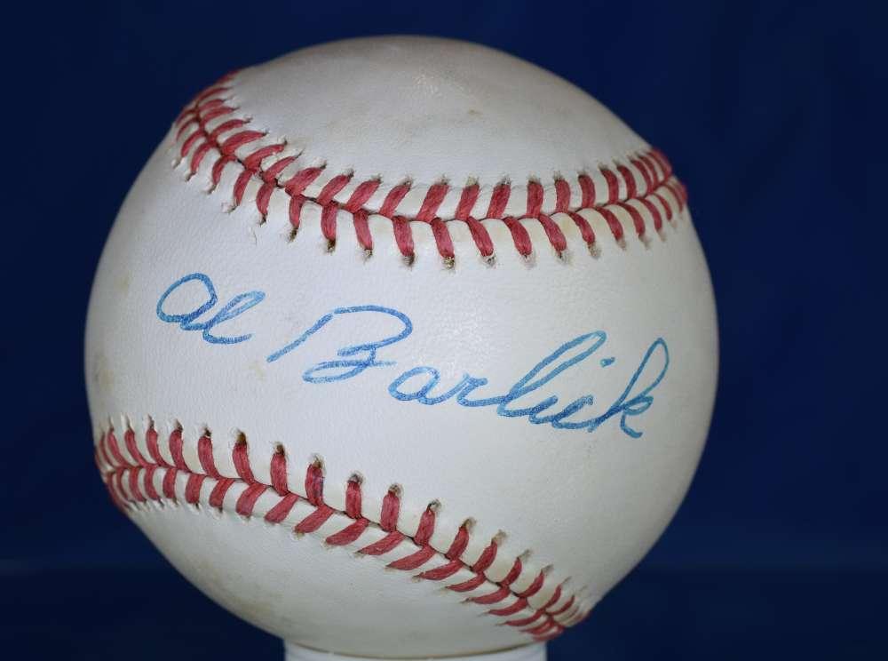 Al Barlick Psa/dna Cert National League Autograph Signed Baseball Authenticated
