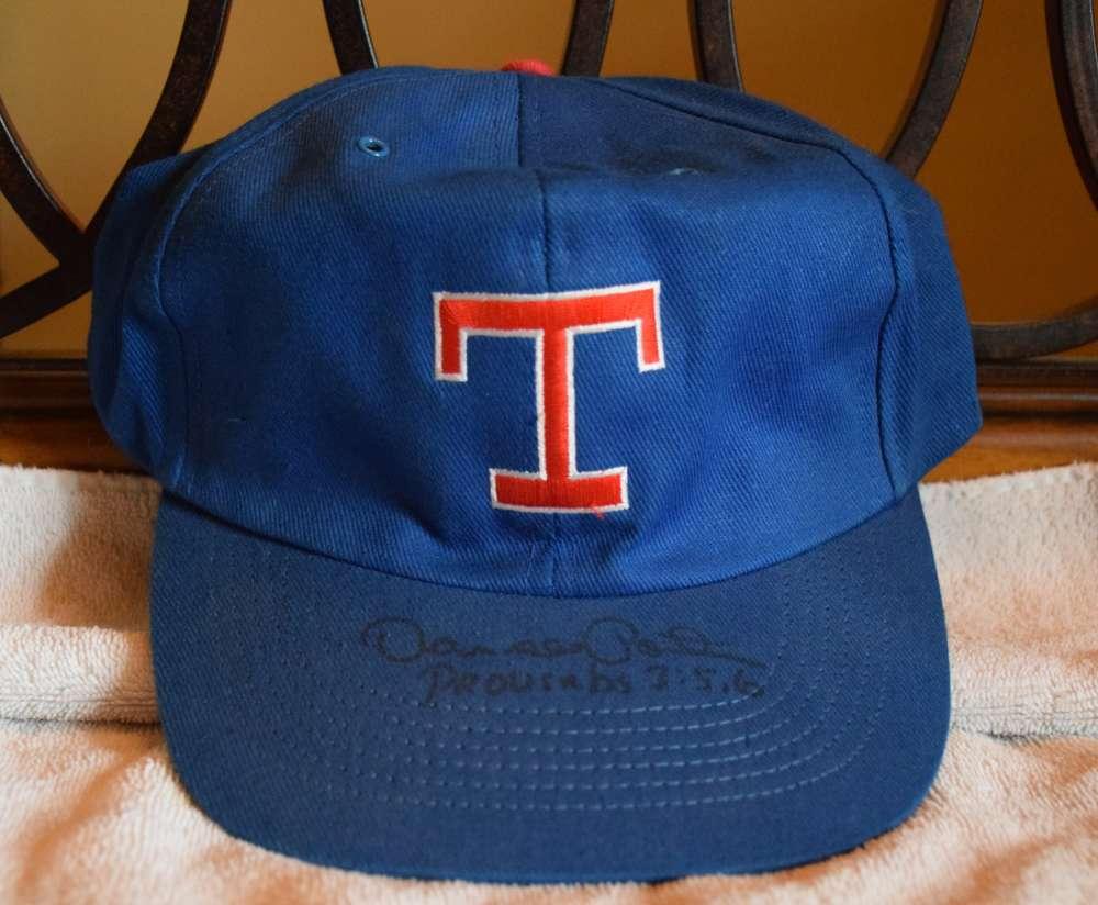 Darrell Porter Signed Jsa Certified Rangers Hat Autograph Authentic