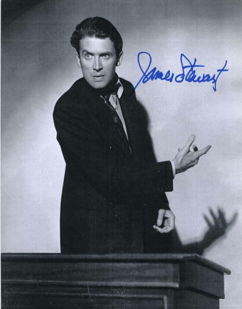 Jimmy James Stewart Psa/dna Coa Signed 8x10 Photo Authentic Autograph