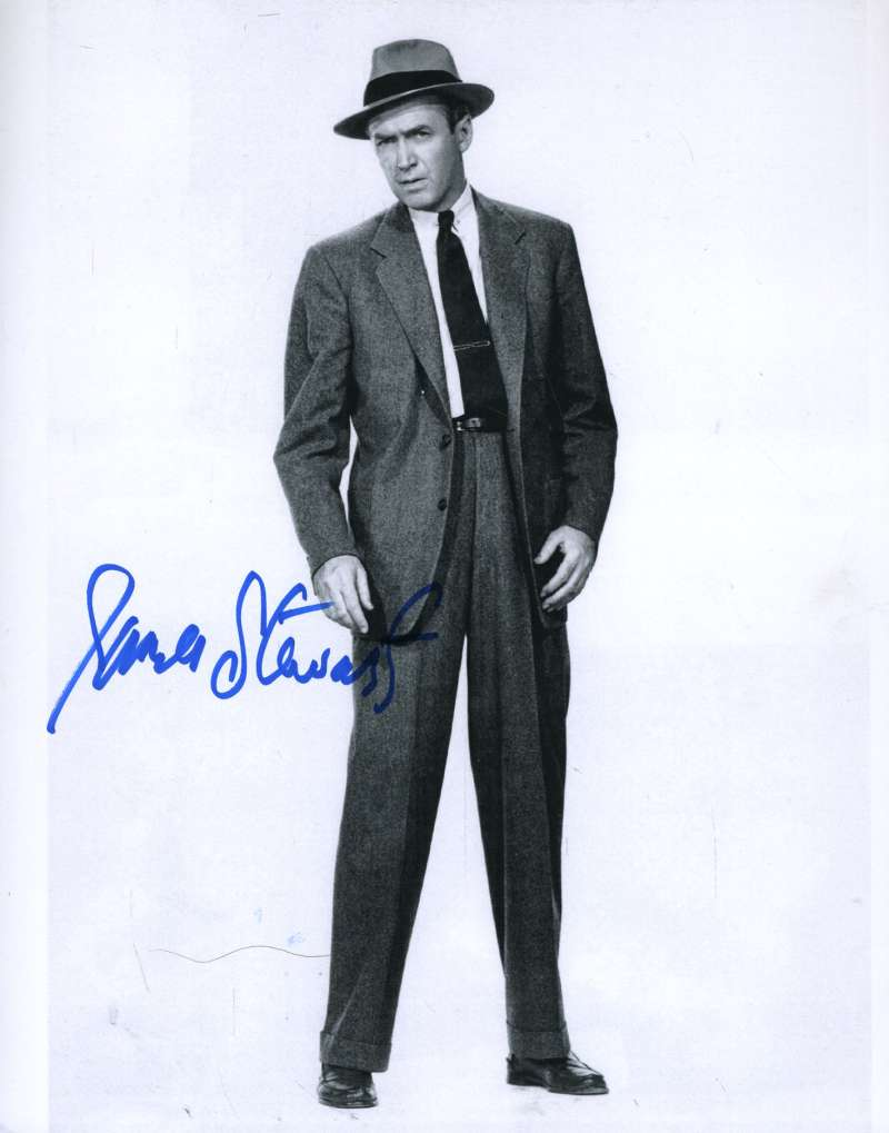 Jimmy James Stewart Psa/dna Certed Signed 8x10 Photo Authenticated Autograph