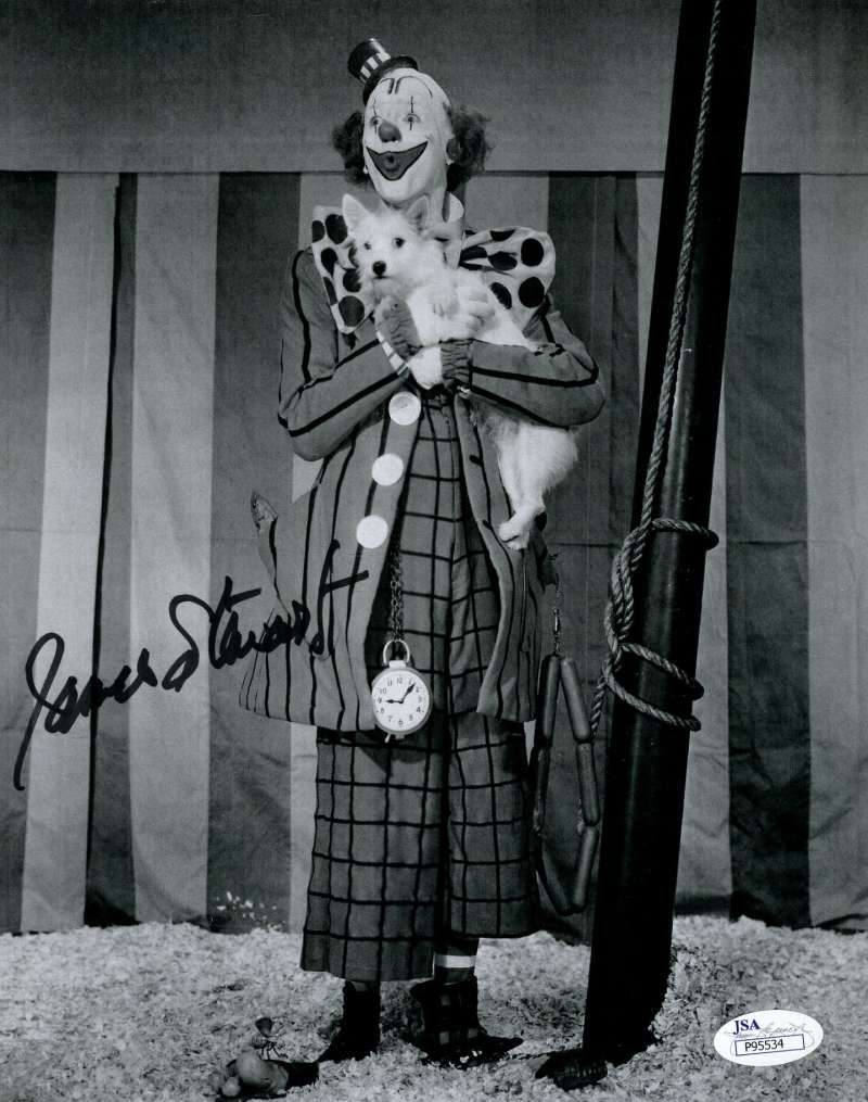 Jimmy James Stewart Greatest Show On Earth Jsa Coa Hand Signed 8x10 Photo Authenticated Autograph