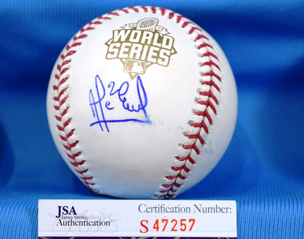 Alcides Escobar Jsa Coa Hand Signed 2015 World Series Autograph Baseball