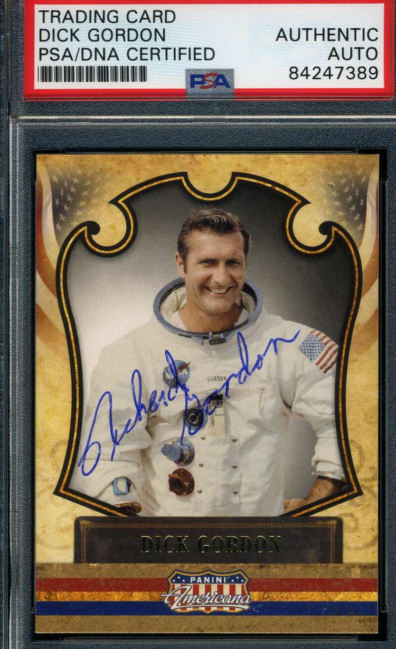 Dick Gordon JSA Coa Hand Signed Panini Card Autograph