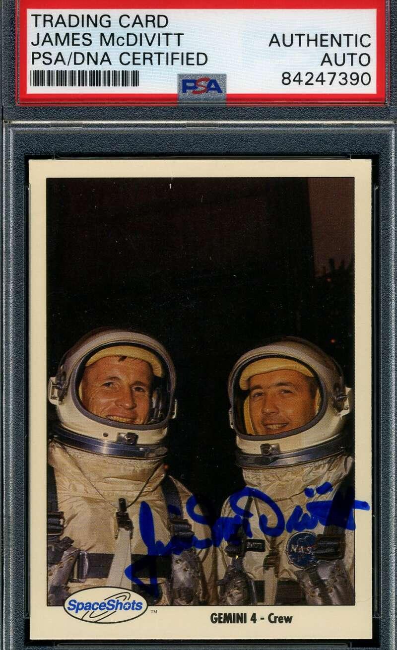 James McDivitt JSA Coa Hand Signed Space Shots Card Autograph