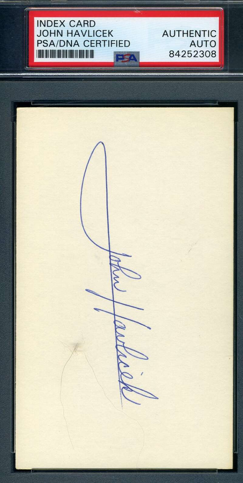John Havlicek PSA DNA Coa Hand Signed 3x5 Index Card Autograph