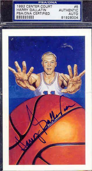 Harry Gallatin Signed 1992 Center Court Psa/dna Auto