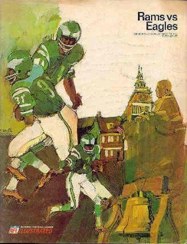 1967 Philadelphia Eagles @ La Rams 11-12 Nfl Program Authentic