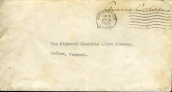 Grace Coolidge Signed Jsa Certed Envelope Free Frank Authentic Autograph