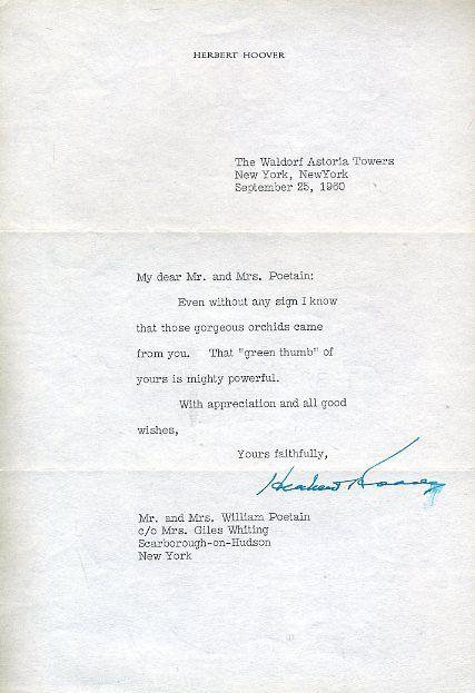 Herbert Hoover President Signed Jsa Certed Letter Authentic Autograph