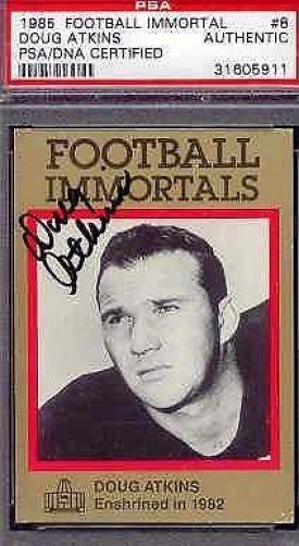 Doug Atkins Signed 1985 Immortals Psa/dna Autograph Authentic