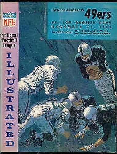 1965 La Rams @ Sf 49ers 11-21 Nfl Program Authentic