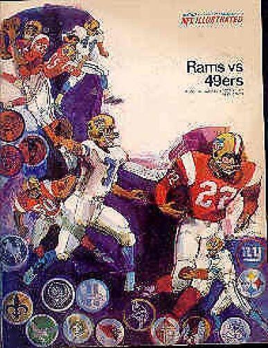 1967 Sf 49ers @ La Rams 10-8 Nfl Program Authentic