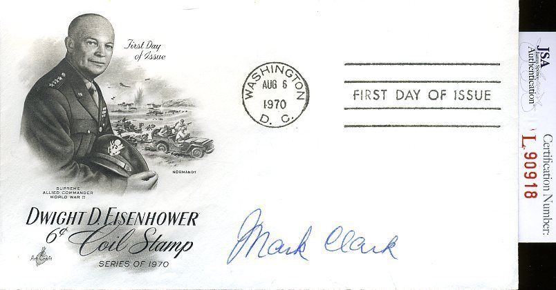 Mark Clark Jsa Authenticated Signed Fdc Certed Autograph