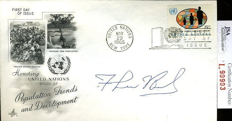 F Lee Bailey Jsa Authenticated Signed 1965 Fdc Certed Autograph