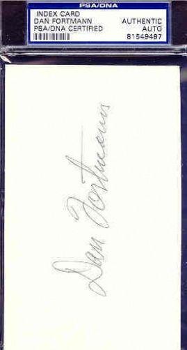 Dan Fortmann Signed 3x5 Index Card Psa/dna Autograph Authentic