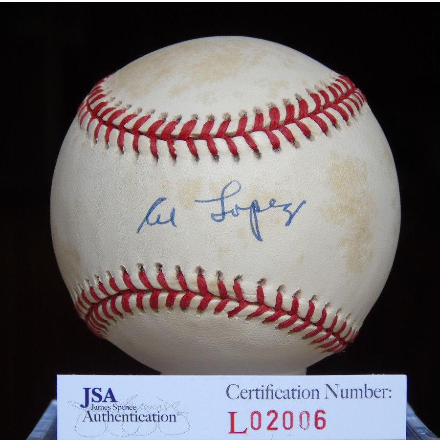 Al Lopez Jsa Certified Autograph American League Baseball Signed Authentic