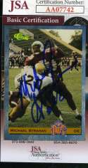 Michael Strahan Rookie 1993 Classic Jsa Coa Autograph Authentic Hand Signed