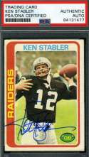 Ken Stabler Psa Dna Coa Autograph 1978 Topps Authentic Hand Signed