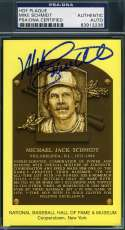 Mike Schmidt Psa Dna Autograph Gold Hof Plaque Authentic Hand Signed