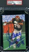 JOHN HANNAH HOF 91 PSA DNA Autograph Goal line Art Card GLAC Hand Signed