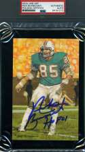 Nick Buoniconti Hof 01 Psa Dna Autograph Goal Line Art Card Glac Hand Signed Slabbed