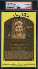 Gary Carter PSA DNA Coa Autograph Hand Signed Yellow HOF Plaque
