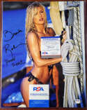 Brande Roderick PSA DNA Coa Signed 11x14 PMOY 2001 Photo Autograph