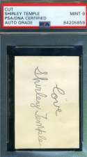 Shirley Temple PSA DNA Coa Signed 1930`s Album Page Autograph