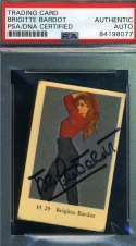 Brigitte Bardot PSA DNA Coa Signed 1950`s Dutch Card Autograph