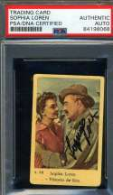 Sophia Loren PSA DNA Coa Signed 1950`s Dutch Card Autograph