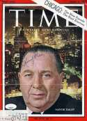 Mayor Richard J Daley JSA Coa Hand Signed 1963 Time Cover Photo Autograph