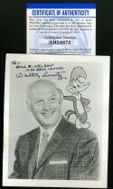 Walter Lantz PSA DNA Coa Hand Signed 4x4 Photo Autograph