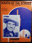Gene Autry JSA Coa Signed South Of The Border Sheet Music Autograph