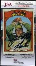 Jim Catfish Hunter 1972 Topps JSA Coa Autograph Authentic Hand Signed
