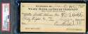 Earle Combs PSA DNA Coa Autograph Hand Signed 1966 Check Autograph
