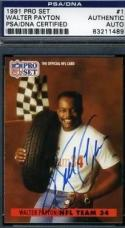 Walter Payton Signed Psa/dna 1991 Pro Set Autograph Authentic