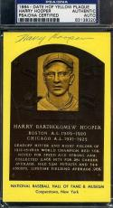 Harry Hooper Psa/dna Signed Gold Hof Plaque Authentic Autograph