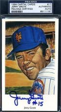 Jerry Grote Signed Psa/dna 1994 1969 Ron Lewis Ny Mets Authentic Autograph
