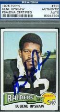 Gene Upshaw Autograph 1975 Topps Signed Psa/dna Authentic